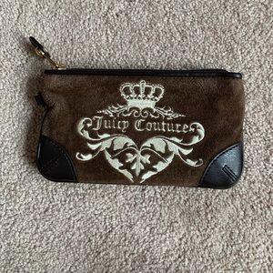 Juicy Couture brown suede wallet